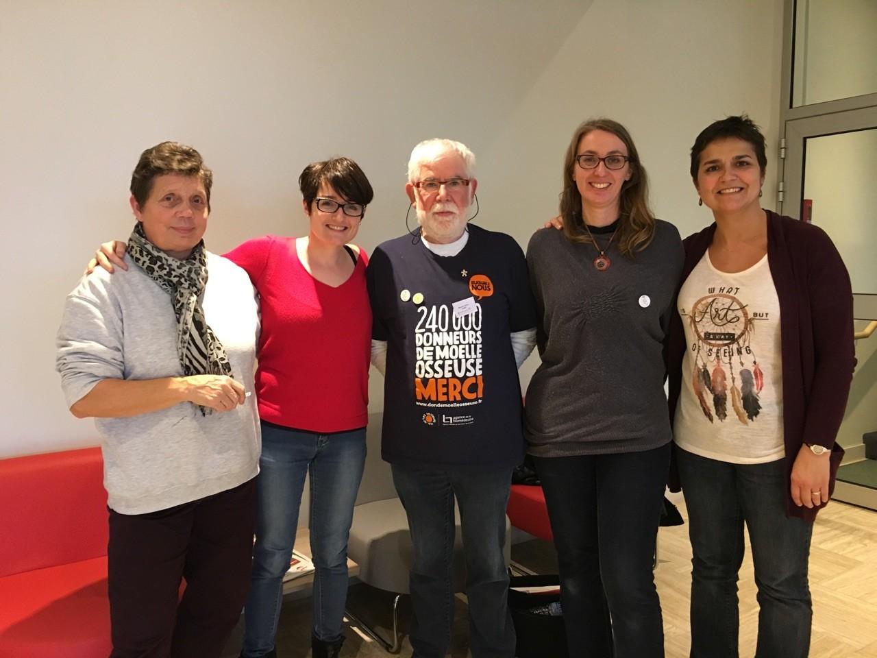 Le bureau 2016 : Janine, Elodie, Bernard, Karine et Sandrine