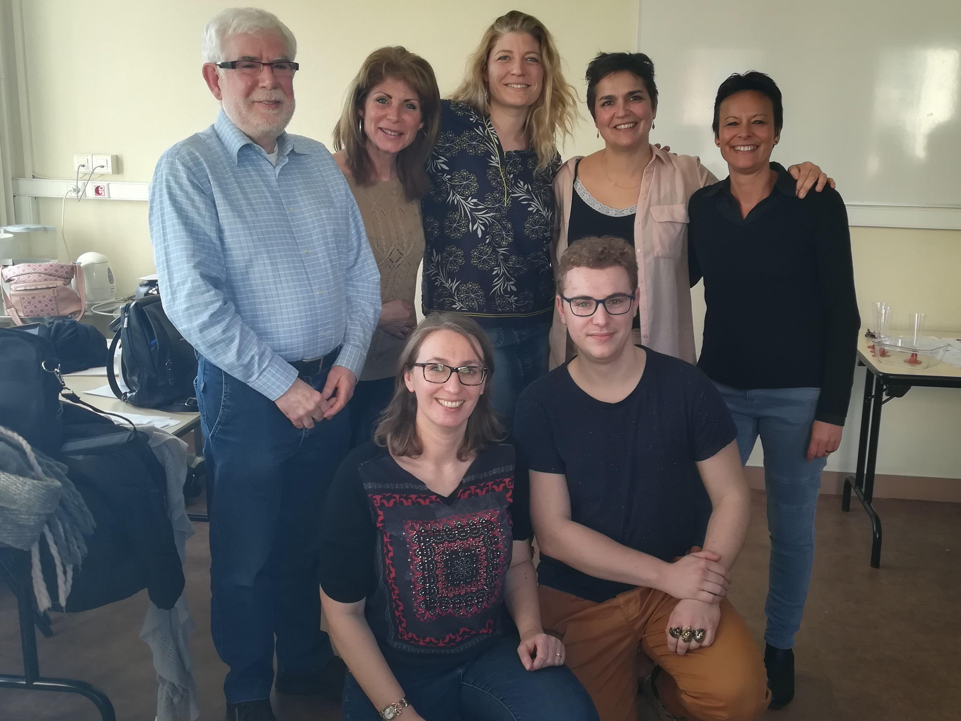 Conseil d'administration 2018 : Bernard, Isabelle, Anne, Sandrine, Sandy, Karine, Loïc