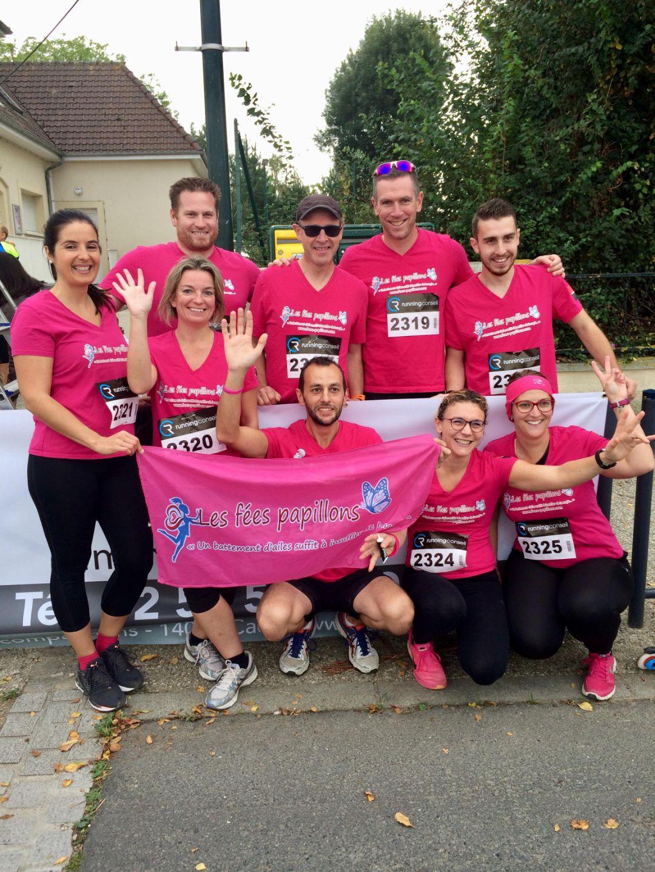 """Des coureurs """"barjos"""" motivés en rose !"""