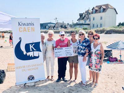Journée plage : merci les Kiwanis Caen Abbayes !